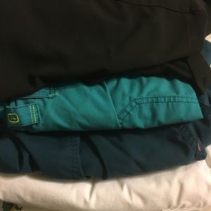 Scrub pants 4 pair lot EUC grey's, wink, Carhart